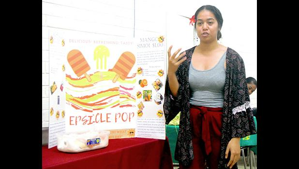 "Epifania Petelo explains the details of her original product the ""Epsicle Pop"""