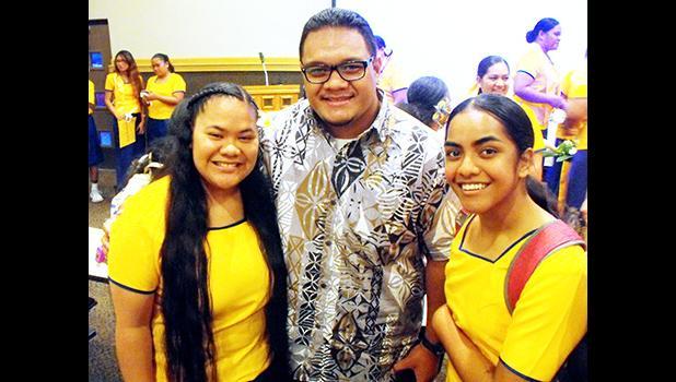 Fale and PTK members Geraldine Aliitaeao-Ofisa (left) and Lolua Leomiti.