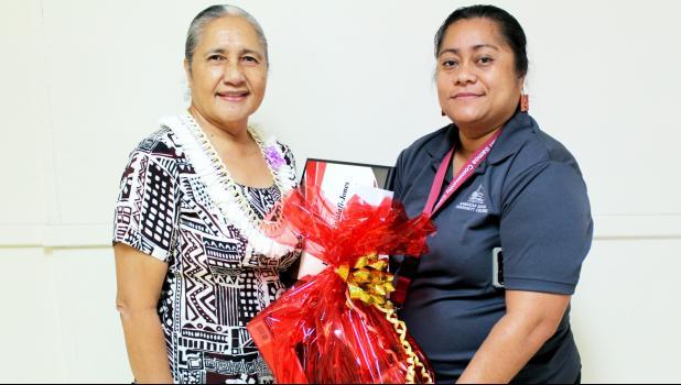 Mrs. Faalafi-Jones with Mrs. Sereima Asifoa