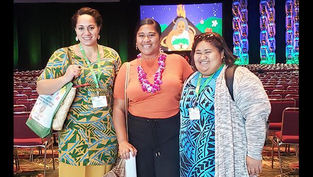 Ms. H. Gingerlei Porter (left),Ms. Demitrah Mauga (center),Ms. Eirenei Tesimale (right)