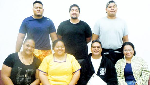 Kuki Tuiasosopo (front, 2nd right) and members of his Drama Workshop (DRA 150) class
