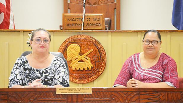 Catherine Aigamaua-Saelua (left) along with Dr. Roxanne Sua'ava Salave'a