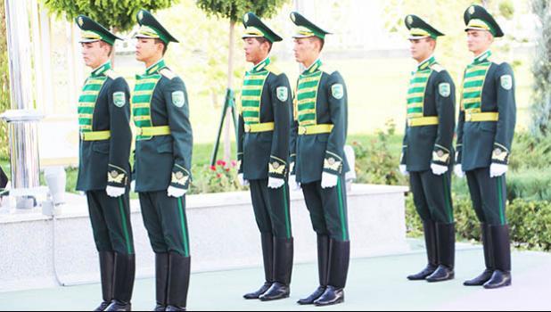 Honor Guard during flag raising ceremony. (Photo:ASNOC\TCA)