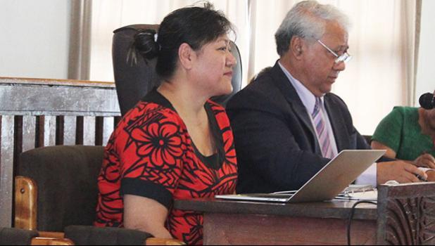 Acting CEO Falaovaoto Sualevai (left) and board chairman, Sen. Fai'ivae Iuli Godinet