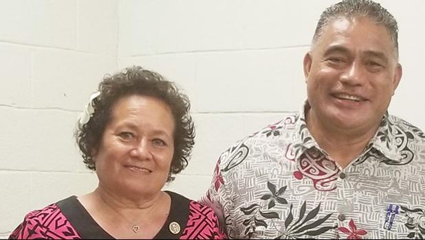 Congresswoman Aumua Amata and Health Director Motusa Nua