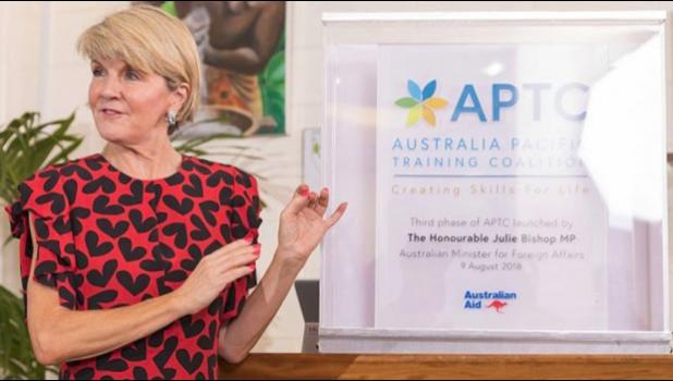 Australia's Minister of Foreign Affairs, Julie Bishop