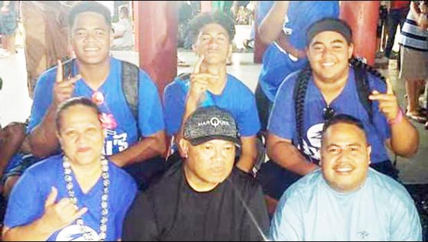 Some AYFS Matai's football players, with their parents
