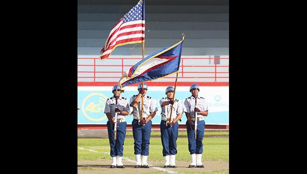 Tafuna High School's JROTC Color Guard