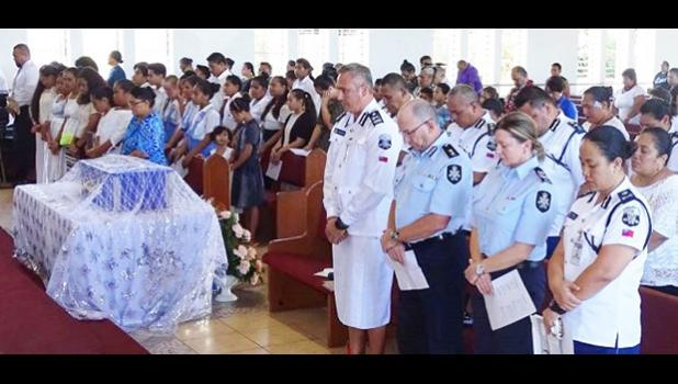 Those who attended Tautai Aumaga's funeral service