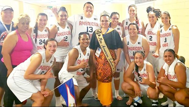 American Samoa women's basketball team that beat Tahiti 85 to 67