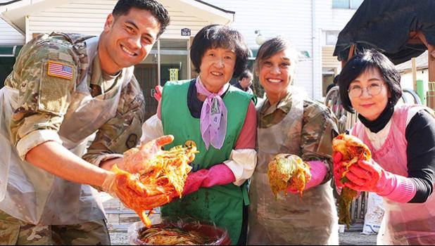 Jalen S Mamea helping make kimchee
