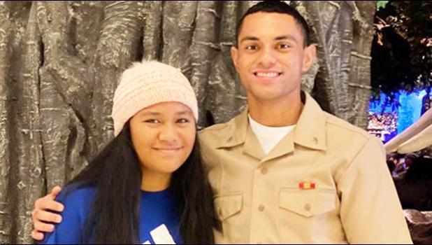 Toa o Samoa Ben Maulupe of Aua with his niece Christina Tase