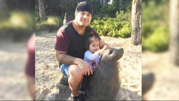 Ben Togiai, 30 shown in a Facebook photo with his young daughter.