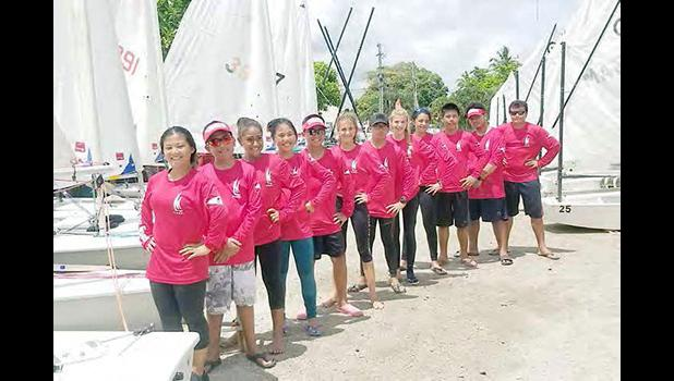 Sailing Association of American Samoa sailers and Lazers