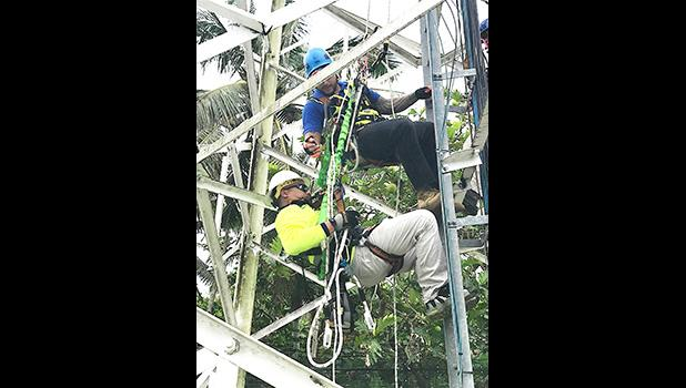 Bluesky Technical staff have successfully completed safety and rescue training, and are now certified in Telecommunications Tower climbing safety, Fall protection and rescue operations.  [Courtesy photo]