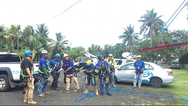 Now certified, Bluesky Technical staff successfully completed safety and rescue training, allowing for Bluesky to ensure employee safety.  [Courtesy photo]