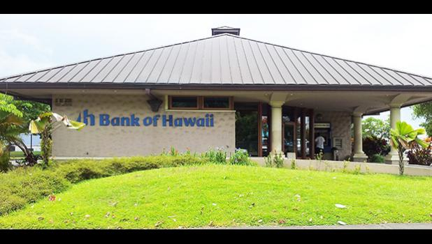 Bank of Hawaii building in American Samoa