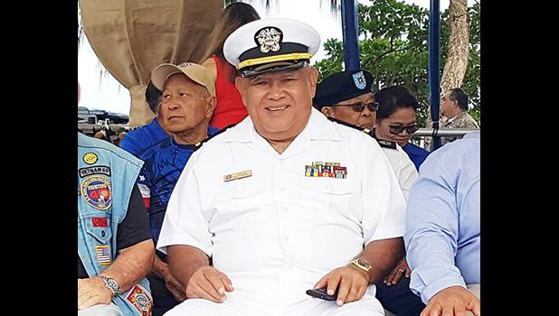 Vicente Borja at a Veteran of the Year ceremony in Ypao Beach, Guam