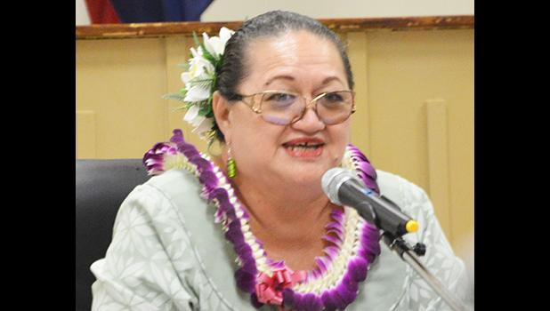 Budget Director Catherine Saelua