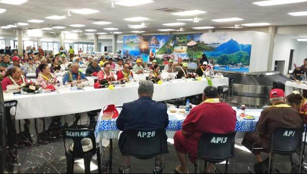 Newly renovated  Pago Pago International Airport Arrival Terminal during recent cabinet meeting