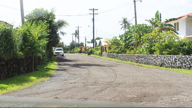 Cardinal Pio Road, one of the side roads in the Fatuoaiga and Ottoville area