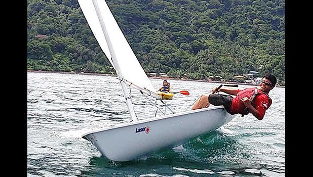 American Samoa Junior Sailor Carneal Lili'o from Fagasa