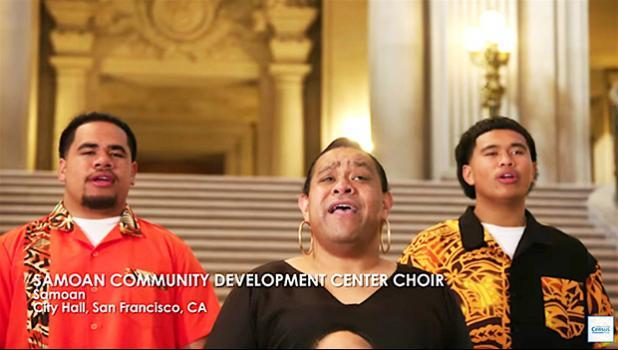 Three members of the Samoan Community Development Center Choir