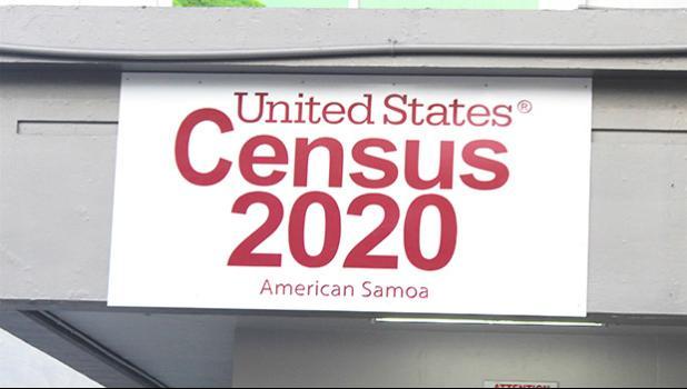 The US Census 2020 American Samoa sign