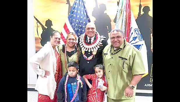 Chaplain Tupuola with family members