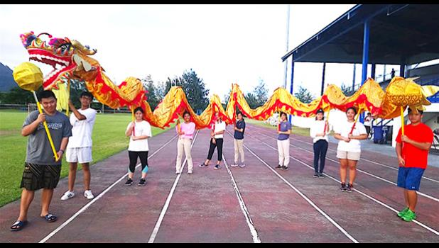 Teens representing the Chinese Association of American Samoa