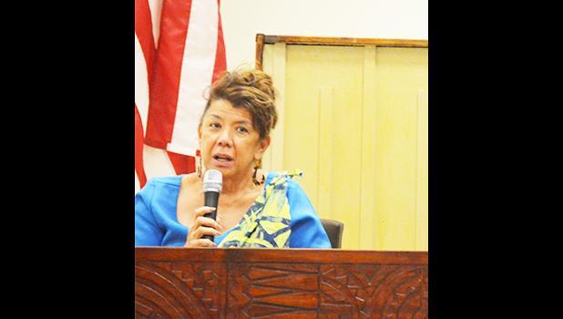 Port Administration director Taimalelagi Dr. Claire Poumele