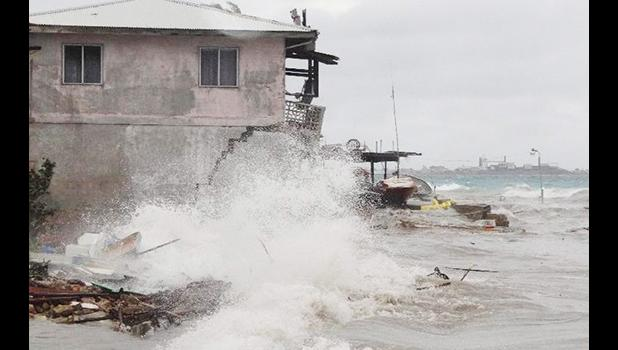 An unseasonable storm hit the Marshall Islands in July 2015