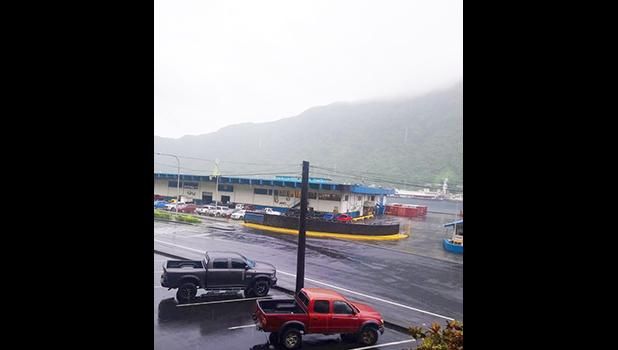 Cloudy skies over Pago Pago harbor