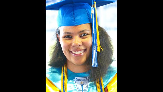 Samoana High School class of 2018 Co Valedictorian, Karlinna Suluama Afoa-Lutu Sanchez.