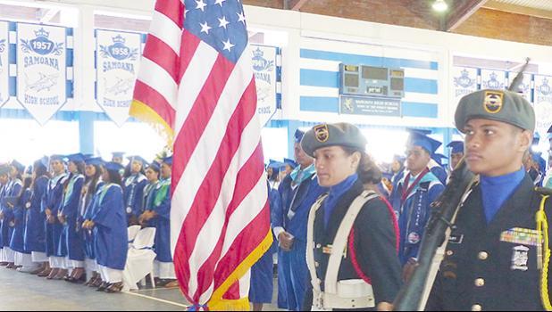 Samoana JROTC Color Guard