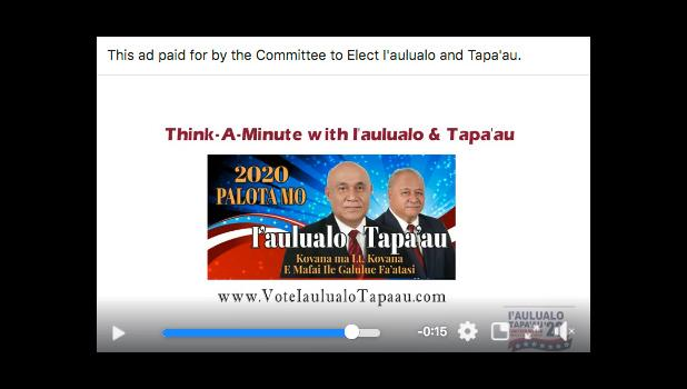 I'aulualo and Tapa'au campaign video