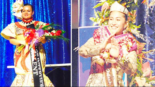 Miss American Samoa Magalita Johnson (left) and Miss Pacific Islands Matauaina Toomalatai (right)