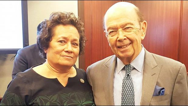 Congresswoman Amata pictured with Commerce Secretary Wilbur Ross