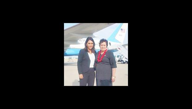 Congresswoman Amata with Congresswoman Tulsi Gabbard (D-Hawaii)