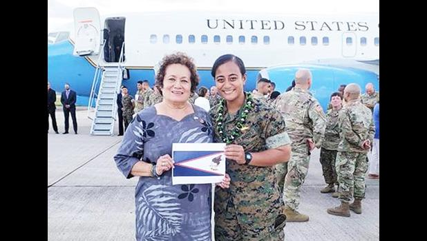 Congresswoman Amata and Marine Captain Anasitasia Ioane