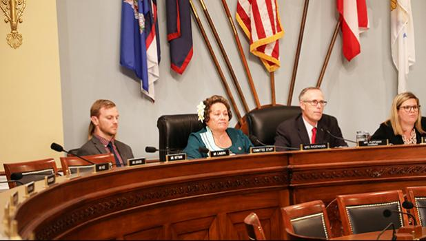 Amata in the Fisheries Hearing (Subcommittee on Water, Oceans and Wildlife) with Chairman Jared Huffman (D-CA).