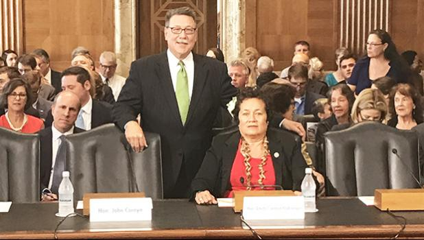 Congresswoman Amata introduced Assistant Secretary Domenech in the U.S. Senate during his confirmation hearing.