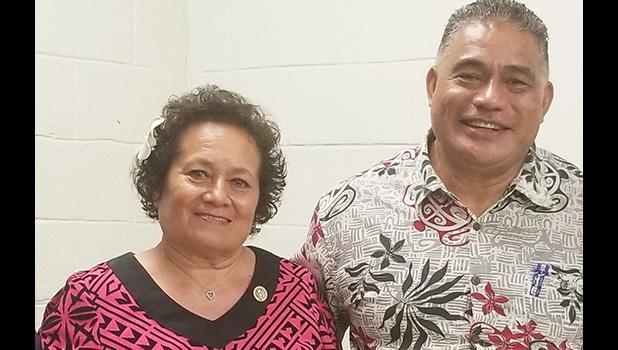 DOH director Motusa Tuileama Nua with Congresswoman Aumua Amata