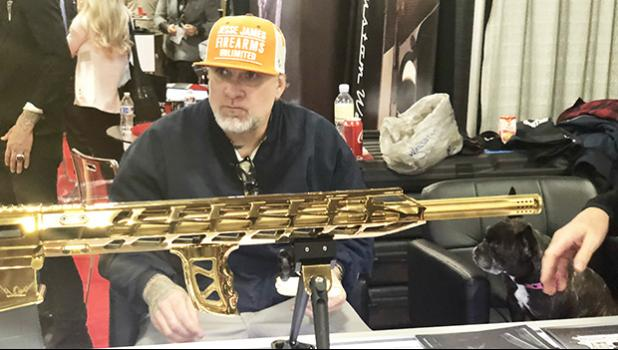 Legendary motorcycle designer Jesse James, shared his Samoan connections story exclusively with Cool Stuff at the 2018 SHOT Show, Las Vegas, Nevada.  [Photo: Barry Markowitz]