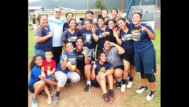 Faasao Marist High School Cougars Softball Team