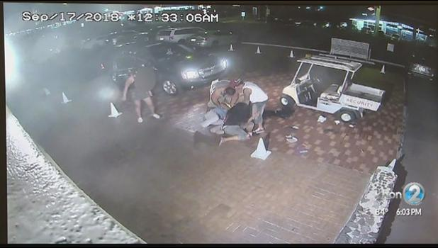 Court released the survelliance video of security guard beating in Kona