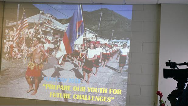 Flag Day Committee's slide presentation opening shot