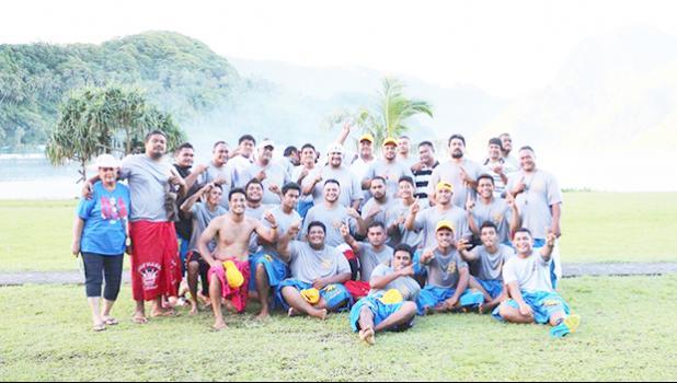 """O le Siamupini 2017 i le Liki Kirikiti a Alii i le Sisigafu'a Amerika Samoa, o le au a le """"Pisisami"""" mai Vaitogi. Malo le finau, malo fo'i le fa'atamasoali'i, o lena ua 'iu le tausinoaga, ma ua e manumalo ai nei! [ata: THA]"""
