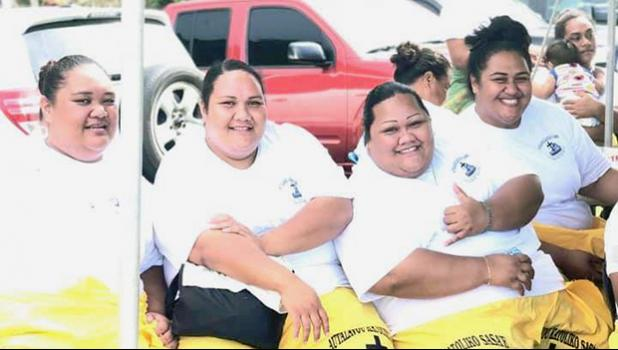 Some players from the East Side Zone of the Diocese of Samoa Pago Pago