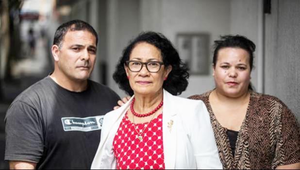 Hans Dalton's siblings, Nicholas and Natasha Dalton with lawyer Olinda Woodroffe